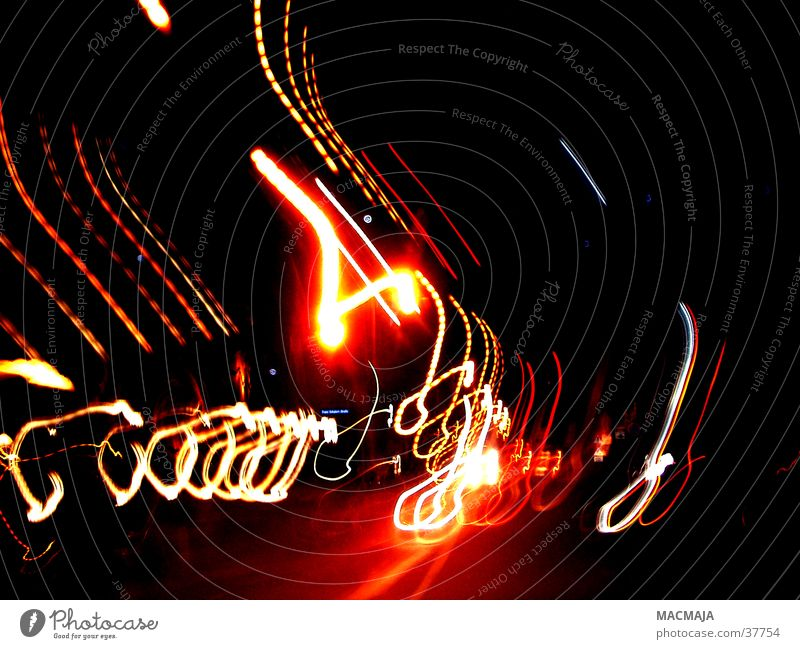 Red Black Yellow Movement Lighting Transport Floodlight Photographic technology