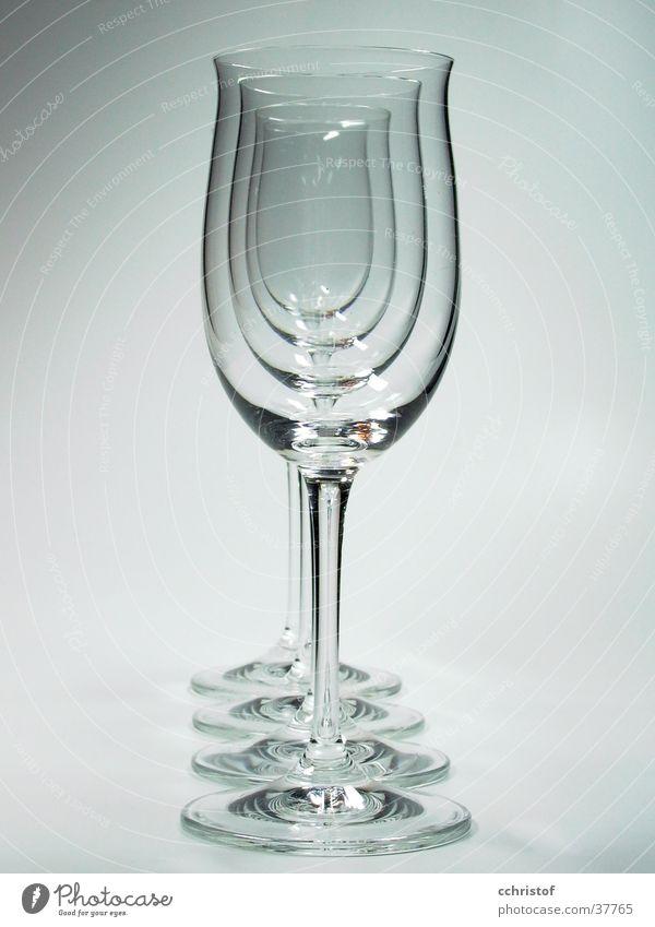 glass row Glass Wine glass 4 Fragile Empty White Gray Living or residing Row