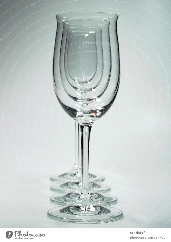 White Gray Glass Empty Living or residing 4 Row Fragile Wine glass