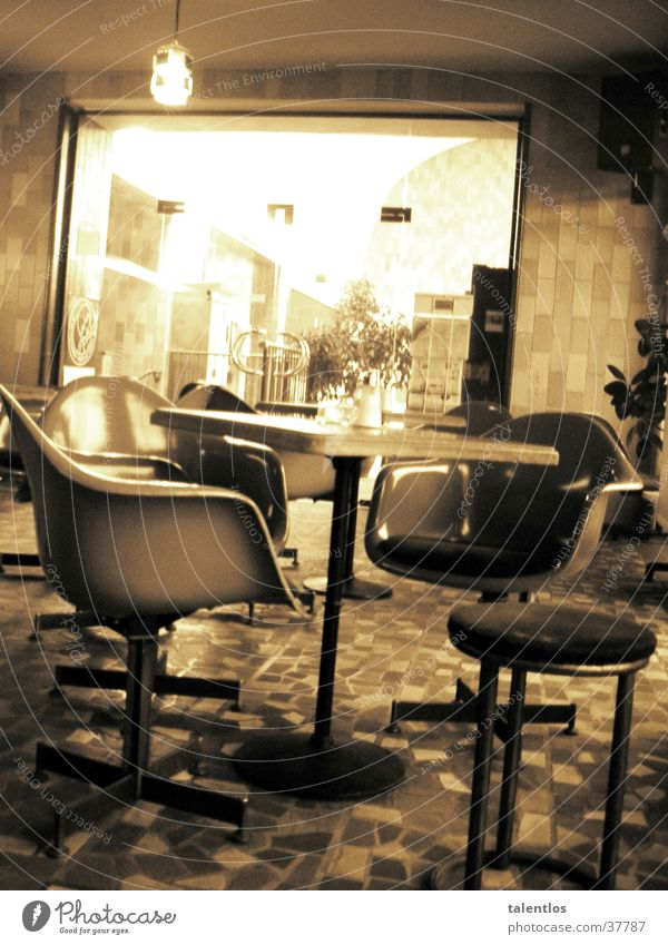 Nutrition Retro Chair Café Gastronomy Sepia Old-school