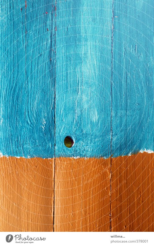 I've got a graphic water hole. Wood Orange Turquoise Creativity Colour Colour palette Knothole Wood grain Wooden wall Wooden fence Graphic Colour photo