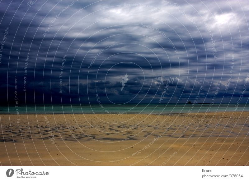cloudy in indian ocean madagasca sand isle beach Sky Nature Vacation & Travel Blue Green White Ocean Clouds Beach Black Yellow Coast Stone Brown Sand Line