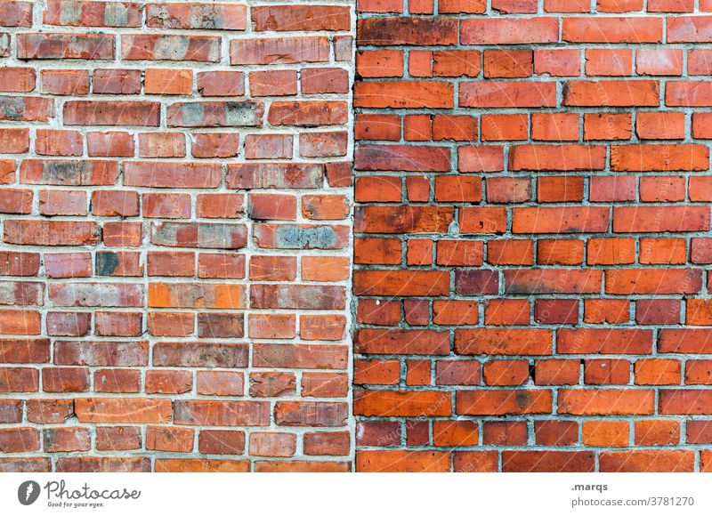 brick wall Brick wall Wall (building) Structures and shapes Simple Divide Pattern Center line Background picture Build Close-up