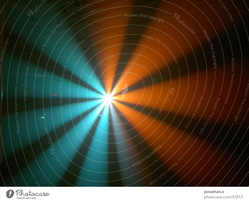 Green Blue Bright Lighting Orange Tunnel Turquoise Light show Photographic technology Scanner Event technology