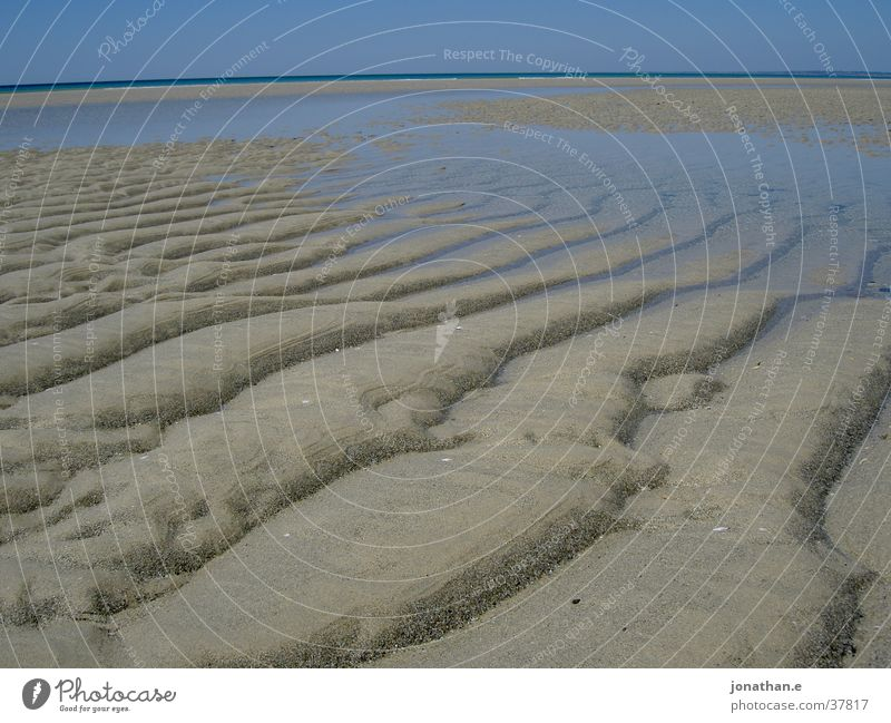 Water Sky Ocean Beach Sand Tracks Stripe France Atlantic Ocean Low tide Tide