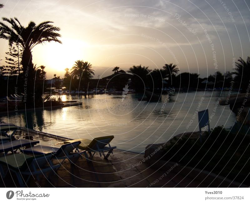 Sunset Tunisia Contentment Pool landscape at dusk