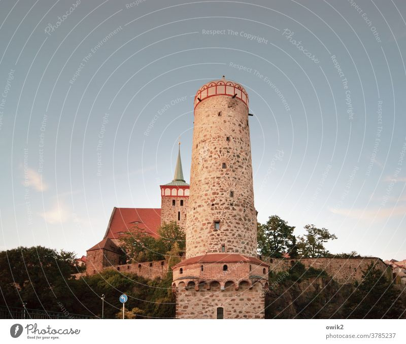 Archaic Bautzen Small Town Germany Downtown Lausitz forest Old town Manmade structures Tower Tourist Attraction Landmark Authentic Firm Historic Medieval times