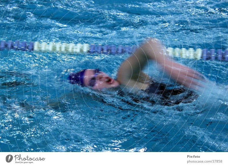 swimming Swimmer (professional sportsman) Action Sports Water Blue Movement Swimming & Bathing