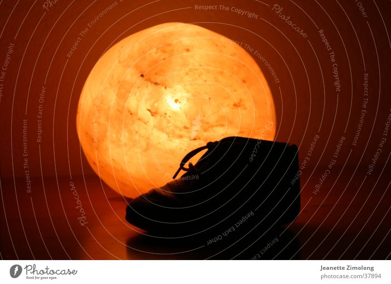 children's shoe Light Childrens shoe Footwear Still Life Things Sphere Orange Sun