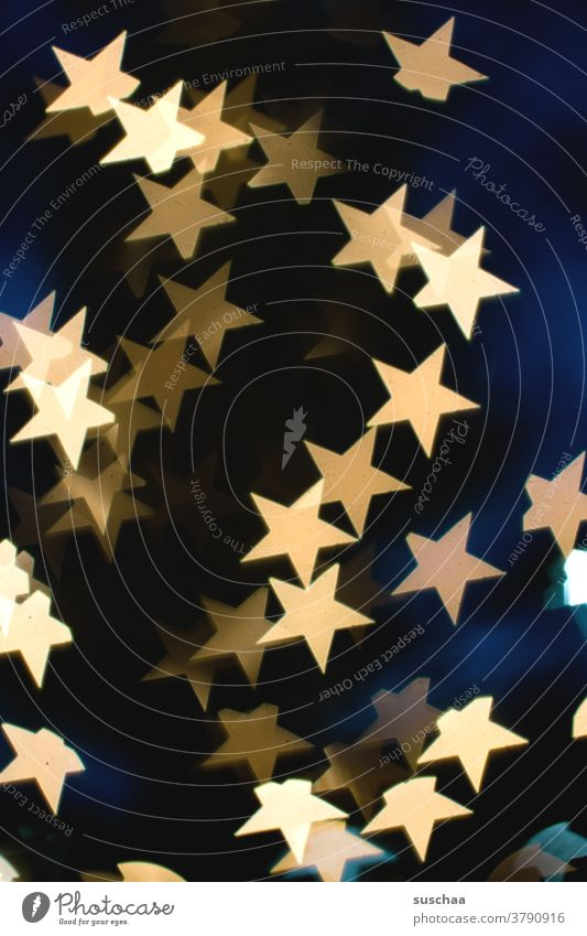 starbokeh stars clearer Light luminescent Abstract Christmassy blurriness background Decoration Christmas & Advent Gold