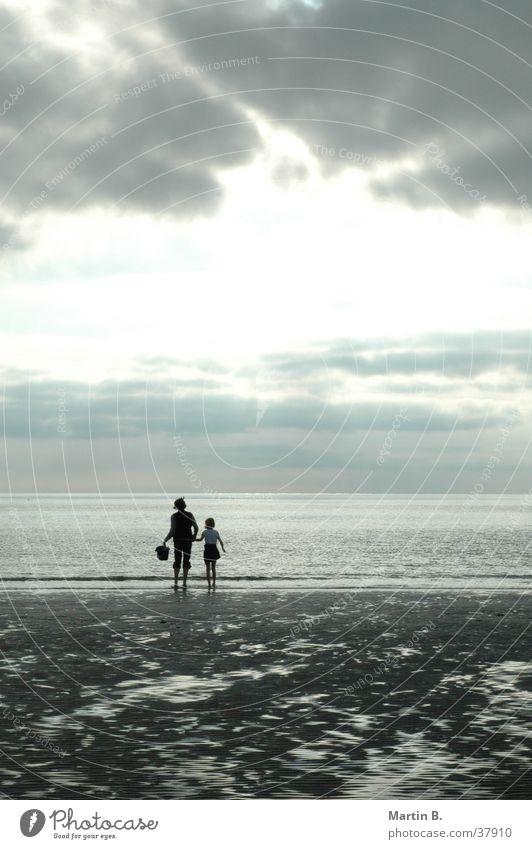 sandpiper Beach Vacation & Travel Light Sunset Clouds Ocean Romance North Sea St. Peter-Ording