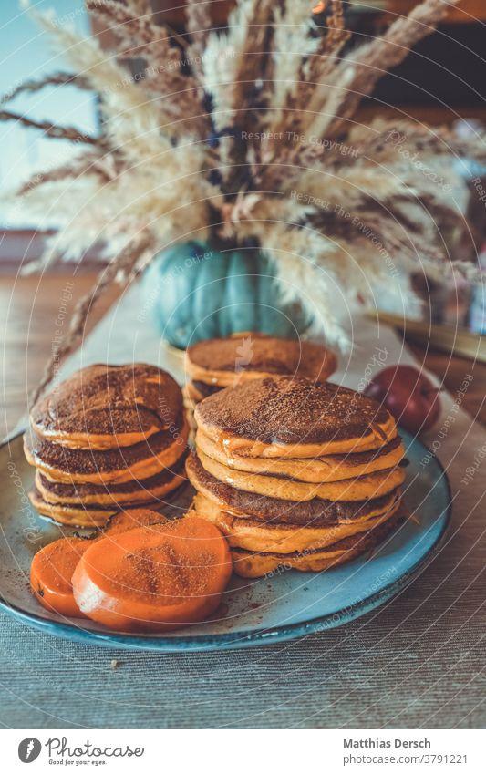 Pancake breakfast pancakes Pumpkin Autumn Food Hallowe'en Vegetable Healthy Fresh seasonal