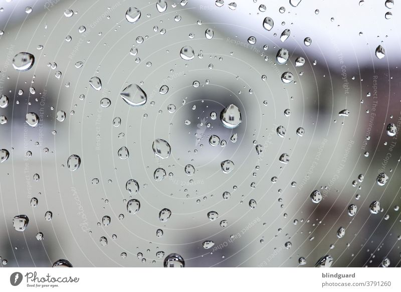 Tears of Heaven Rain raindrops Glass Slice reflection Wet Water Reflection Drop House (Residential Structure) Shallow depth of field Macro (Extreme close-up)