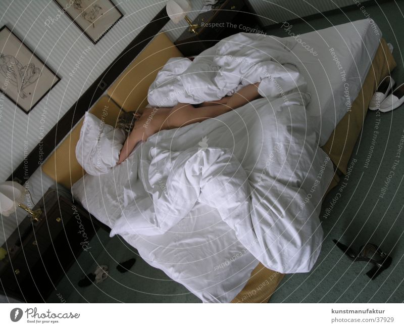 Woman Bed Wake up