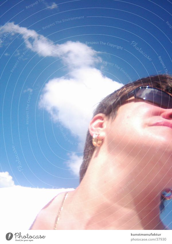Sun in Hamburg Woman Sunglasses Boating trip Summer Europe Sky