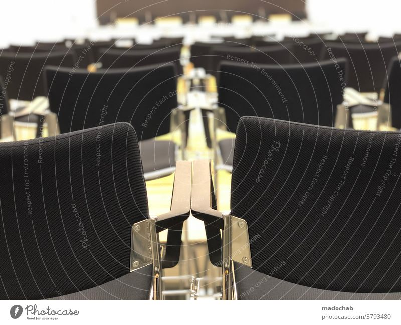 After the press conference chairs Press Conference room Event Seating Empty Row of seats Seating capacity Audience Row of chairs Free Places Chair Deserted Wait