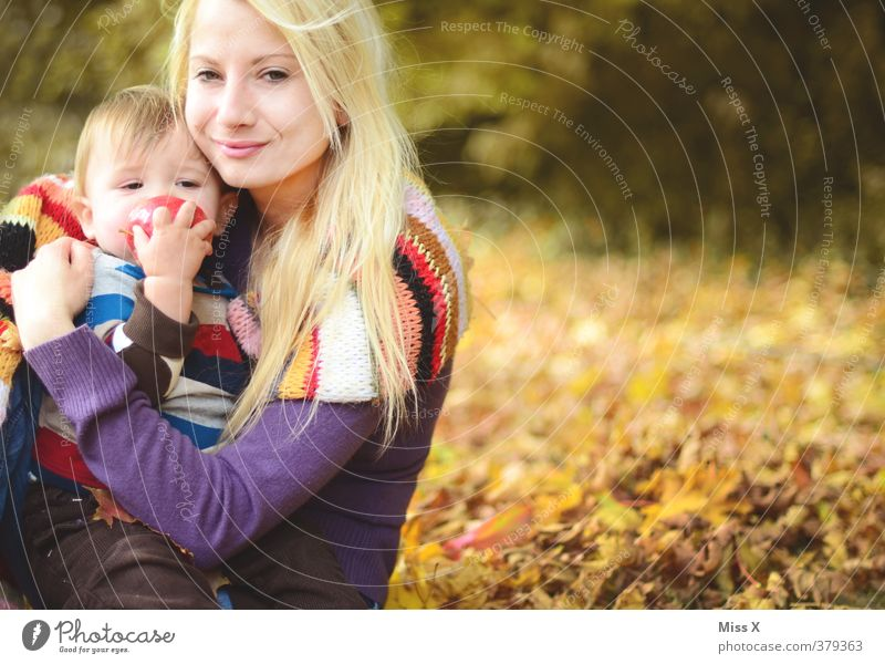 Human being Woman Youth (Young adults) 18 - 30 years Adults Life Emotions Love Autumn Playing Happy Moody Together Family & Relations Infancy Baby