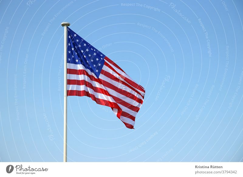 star-spangled banner flag Flag Americas USA United States star banner American Flag Red Blue Blow Judder hoisted Flagpole Sky Ensign flag day Election campaign