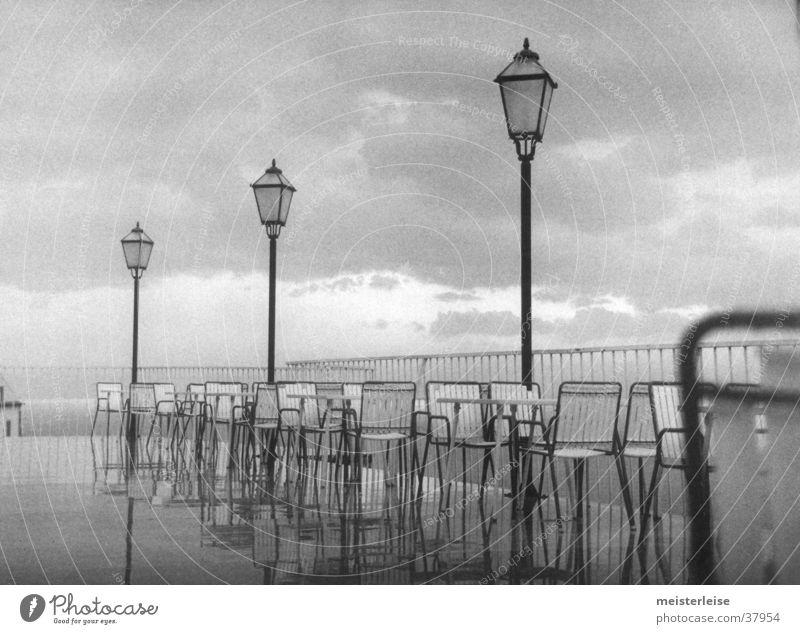 Nature Water Clouds Gray Rain Landscape Coast Wet Chair Lantern Terrace