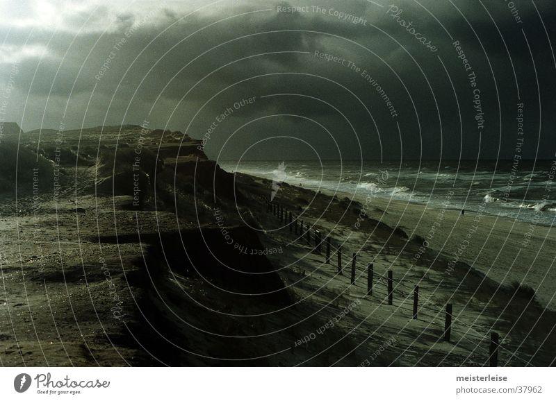 Water Ocean Beach Clouds Dark Cold Gray Rain Landscape Waves Coast North Sea