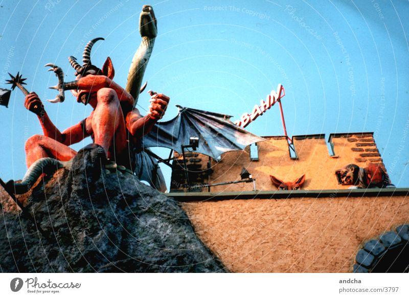 Red Architecture Fairs & Carnivals Vienna Devil Monster Austria Prater