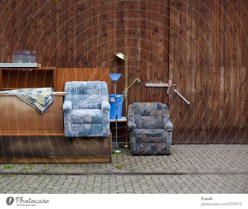 Lamp Sit Furniture Seating Parking Paving stone Armchair Wooden wall Courtyard Bucket Bulk rubbish