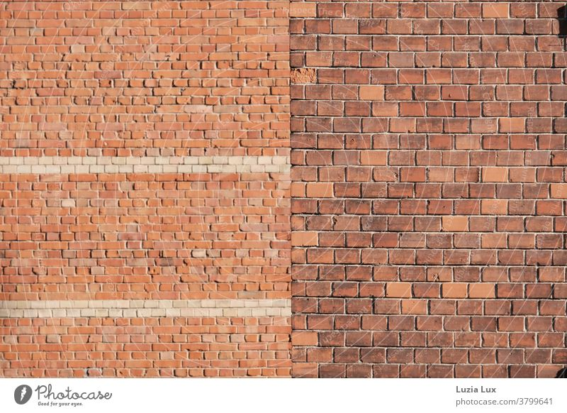 Stone on stone: brick walls in front and behind, plus bright sunshine Brick Brick wall Brick building Brick facade Wall (barrier) Wall (building) Exterior shot