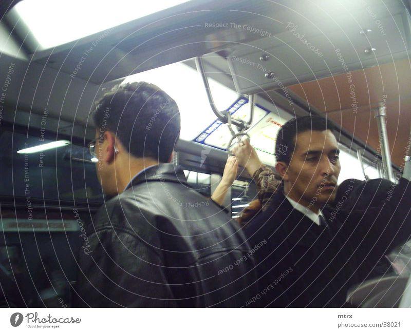in the subway Human being Underground Transport jaquet Men head lights
