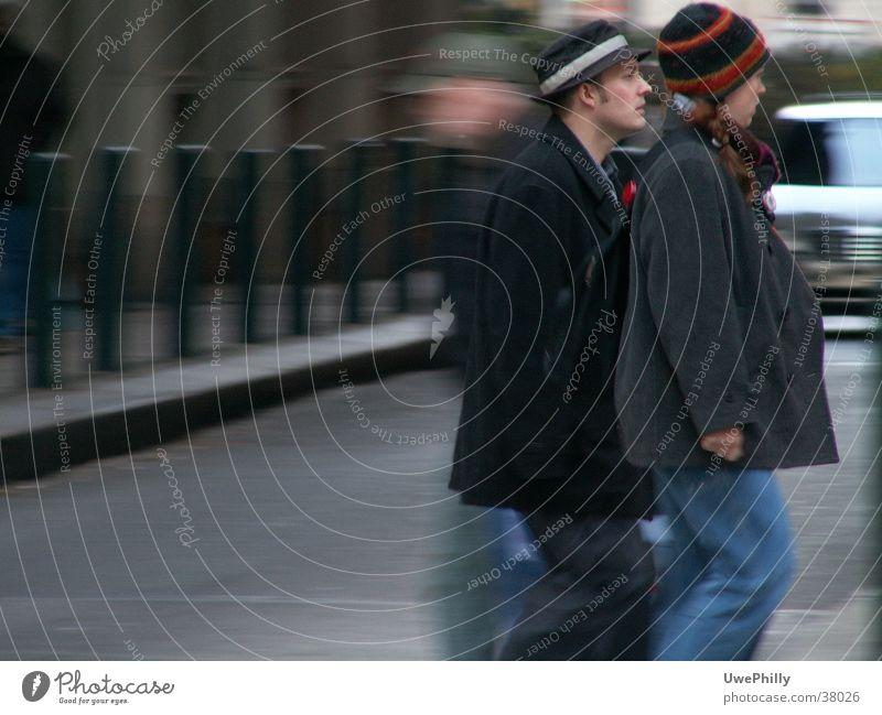 freeze frame Blur Gray Group Street Human being Movement