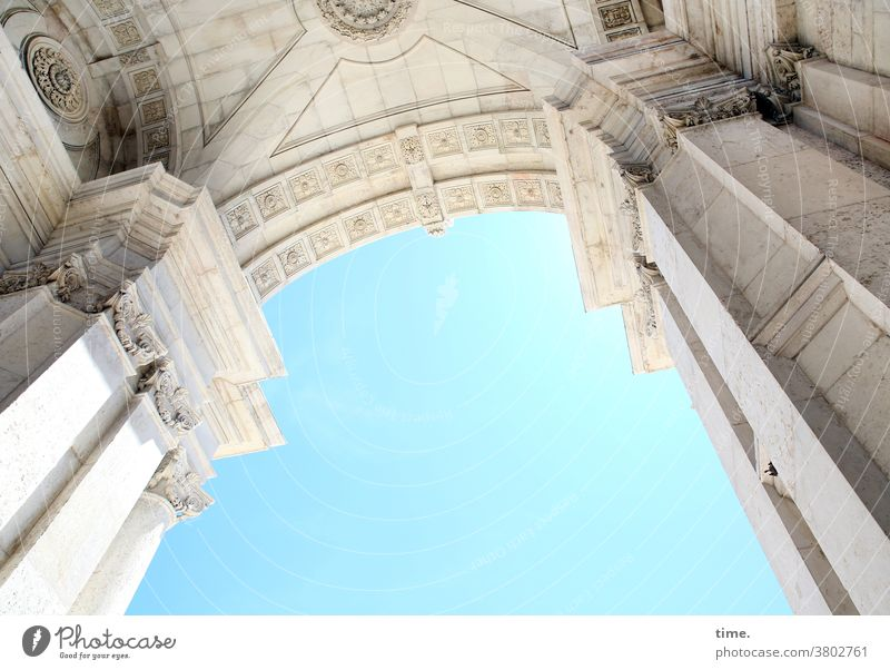 Cervical spine training (37) Sky Wall (barrier) Old Historic Beautiful weather sunny Old building Easy Heavy Worm's-eye view Archway urban