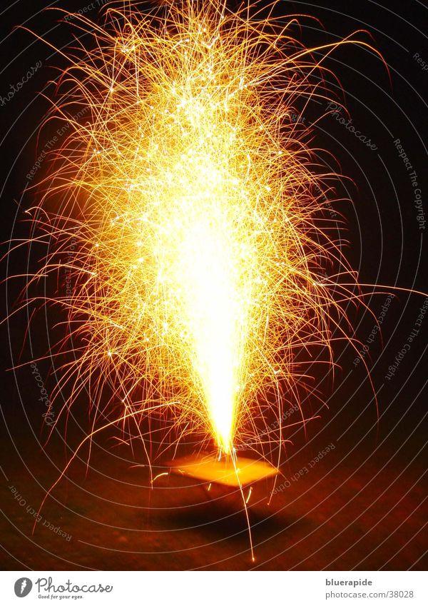 Lamp Dark Bright Glittering Blaze Table Hot Firecracker Obscure Volcano Spark