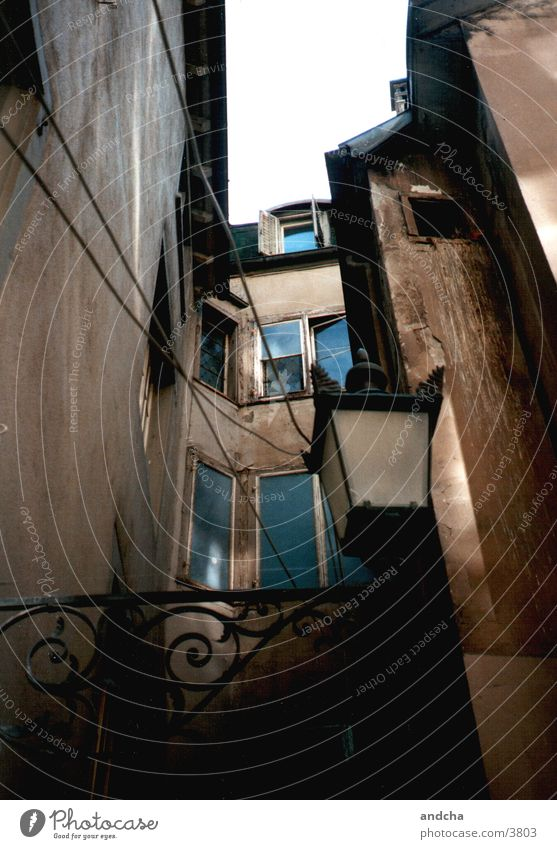 Old Dark Brown Architecture Decline Portugal Backyard Lisbon