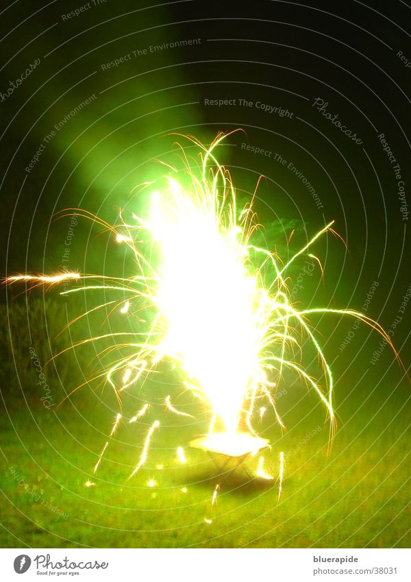 Green Lamp Bright Glittering Obscure Volcano Flashy Spark