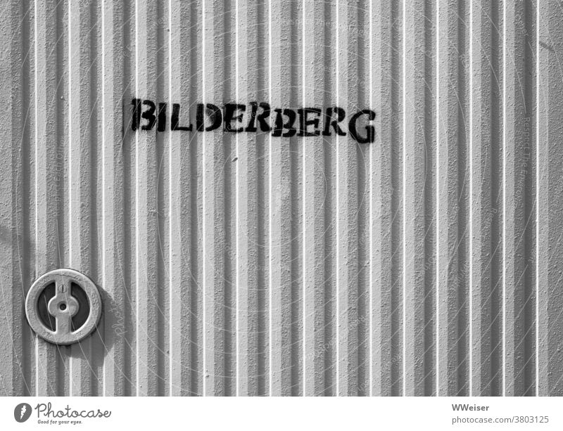 A big pile of pictures or a secret meeting of the mighty? bilderberg door Closure Cupboard Metal Safe locked conference organization meetings Conspiracy