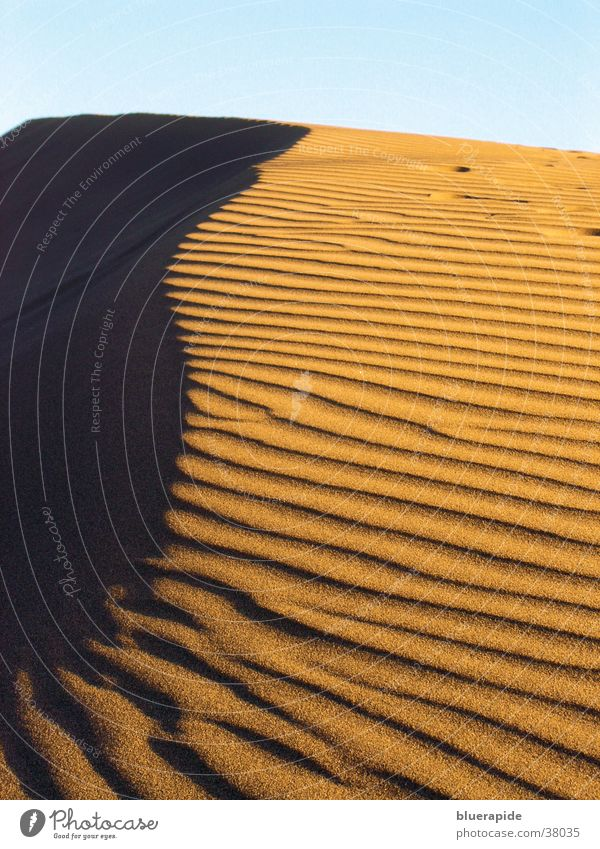 sand dune Vacation & Travel Waves Red Yellow Structures and shapes Desert Sand Sky Line Shadow