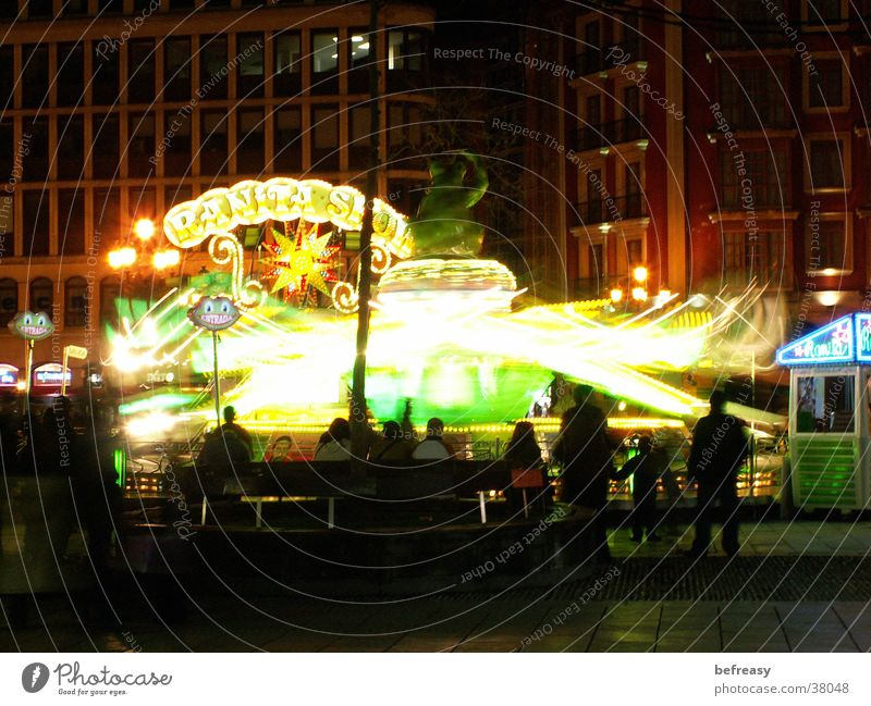 octopus Fairs & Carnivals Night Dark Bilbao Long exposure fairground attraction Illuminate