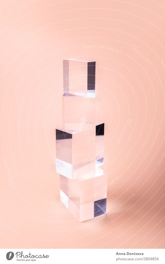 Acrylic Solid Display Block Blocks Shop Windows empty podium pedestal display geometric shape shelf product mockup geometric stand for cosmetics Tiny stage