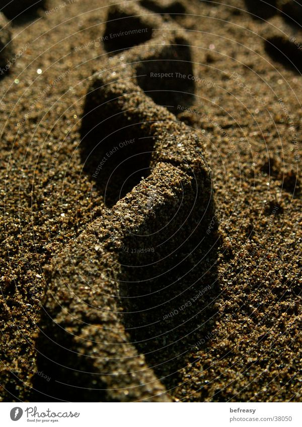 sand wave Brown Grain of sand Skid marks Waves Zigzag Macro (Extreme close-up) Close-up Sand sand wall sand pattern