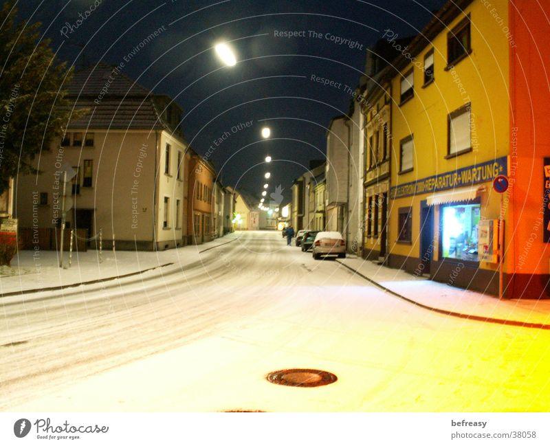White Street Dark Snow
