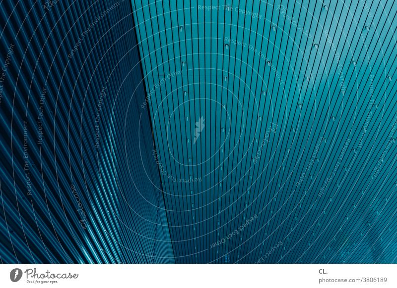 wall and ceiling Architecture Abstract Blanket Blue Construction architectural photography Building structure lines Wall (building) Tall Large Modern urban