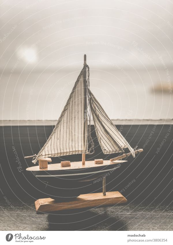 life of thought dream Daydream Longing boat ship Sailing ship Far-off places Navigation Maritime Sailboat Freedom Vacation & Travel Boating trip Horizon