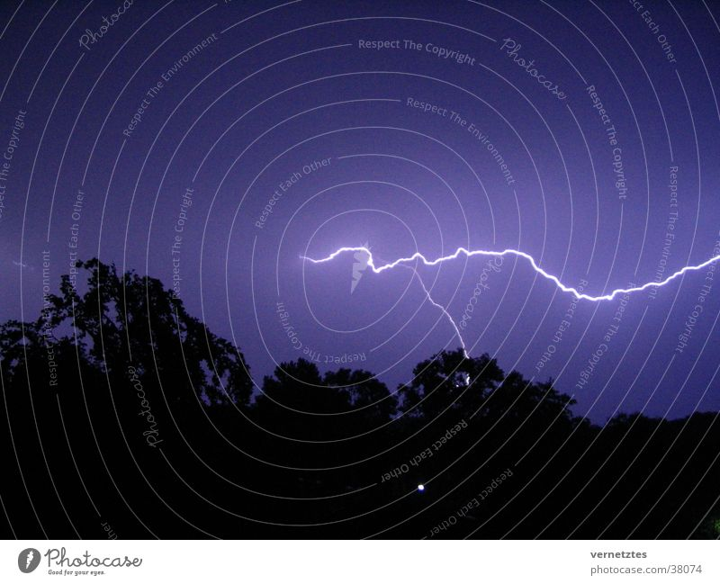Dark Lightning Thunder and lightning Thunder Summer night