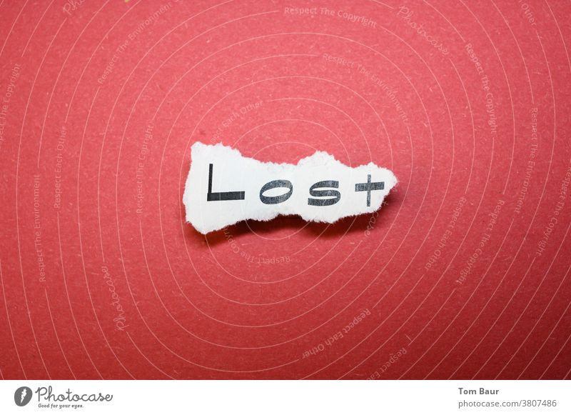 Lost - Youth word of the year 2020 Word Typography Letters (alphabet) Deserted Text Characters Newspaper Collage Symbols and metaphors Society Paper