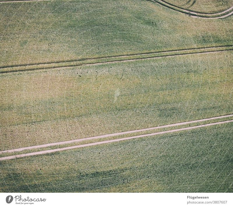 from top 2 Above aerial photograph drones droning UAV view Field Margin of a field Working in the fields Tracks Tracking track search Lanes & trails Grain