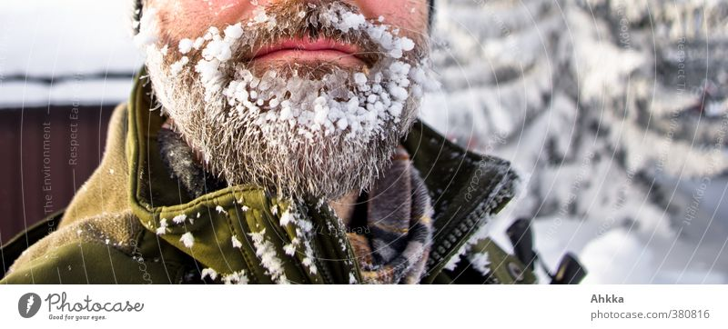 Close-up of a beard with a lot of ice, Scandinavia Vacation & Travel Adventure Expedition Winter Snow Winter sports Human being Masculine Facial hair 1 Nature
