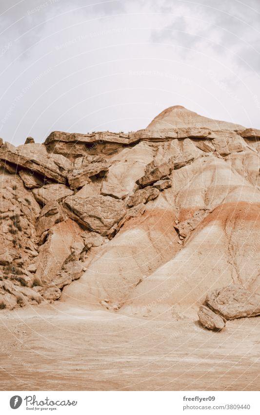 Iconic mountain on Bardenas Reales in Navarra, Spain barcenas reales navarra copy space iconic landmark spain tourism nature desert tour tourism explore red