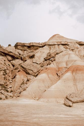 Iconic mountain on Bardenas Reales in Navarra, Spain barcenas reales navarra copy space iconic landmark spain tourism nature desert tour tourism explore red