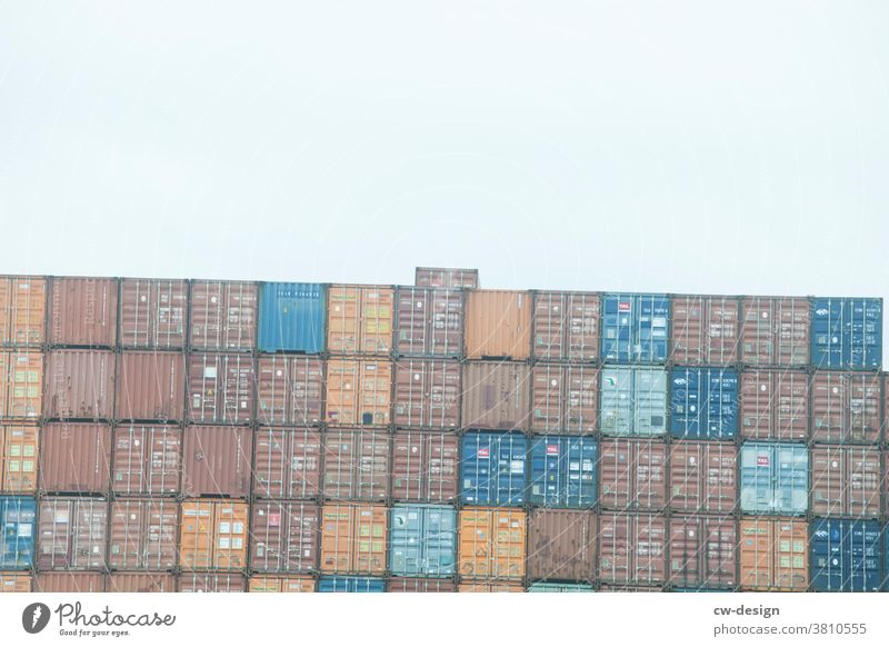 Democracy and National Unity Day Container unit tilted position Downward Exterior shot Colour photo variegated square Square Cuboid square format Navigation