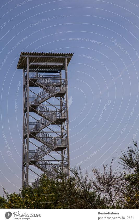Good resolutions for the new year: Always keep the overview! Lookout tower Tower Overview Good intentions New Year Colour photo Exterior shot height Sky