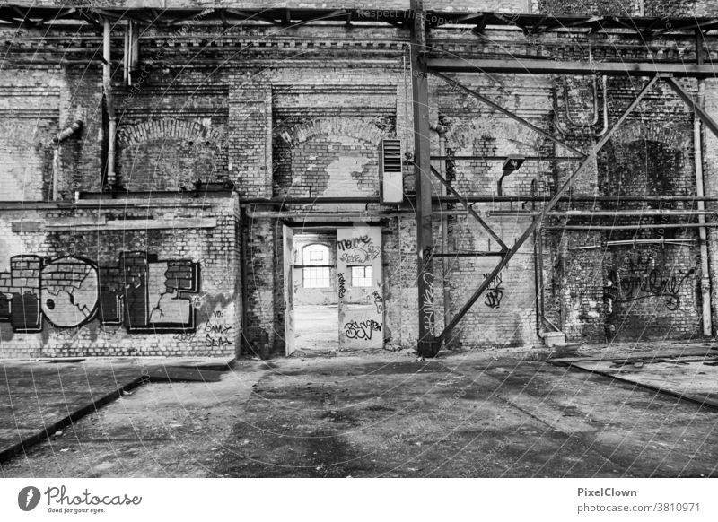lost location abandoned places Architecture forsake sb./sth. Old Building Ruin, lost location, industrial ruin, Heavy industry, decay